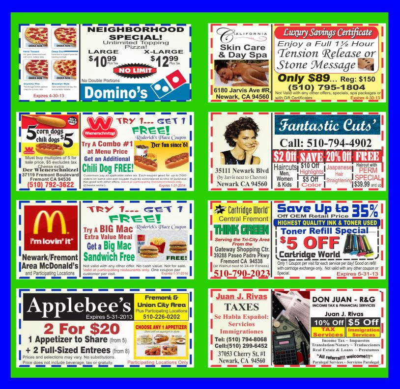 Coupons at Lunch and Things